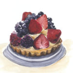 """berry tart"" watercolor"