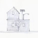 """dear little house"" pencil and water-soluble graphite"